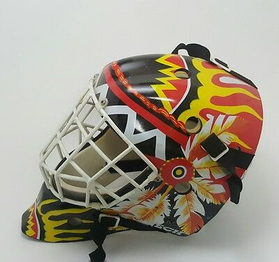Youth Goalie Helmet With Face Shield Street Hockey Size L
