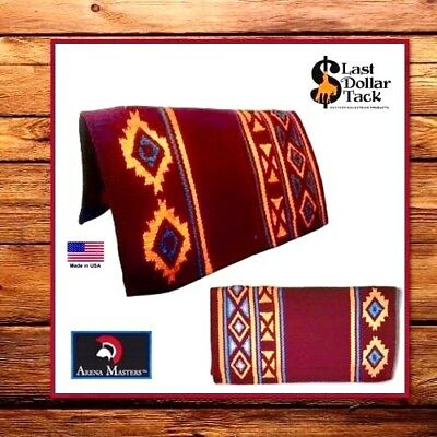 Arena Masters Western Show Blanket Pad ~ Quality Shock Absorbing Cashmilon Wool