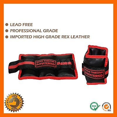 2Kg Ankle Wrist Weights With Straps Soft Satchel Gym Equipment Fitness Strength