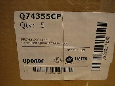 Uponor Q74355CP Concealed Sprinkler Assembly (5pcs)