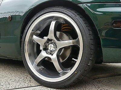 18 inch King KG-5 Light Racing Wheels 4x100 no scratches