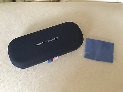 Tommy Hilfiger Glasses Case With Cleaning Cloth NEW Light Blue
