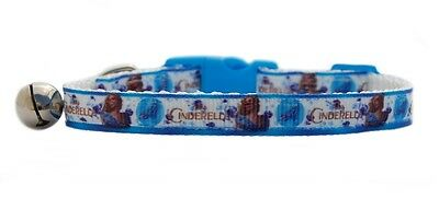 "Blue White   "" Cinderella""   safety kitten cat collar 3 sizes"