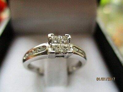 Ernest Jones engagement ring 18ct white gold and 0.25 Diamonds... RRP £1300