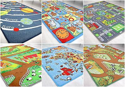 Large Kids Play Mats Children's Playroom Carpets Educational Fun Rug Floor Mat