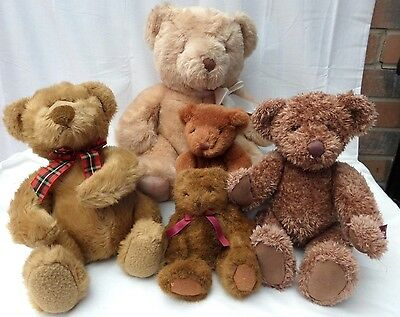 Job lot / bundle 5 RUSS Berrie Teddy Bears Amber Vintage Bromley Pickering VGC