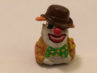 """A Delightful Hand Painter Pewter Thimble of a """"Circus Clown"""""""