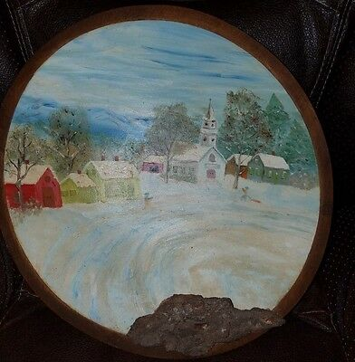 Handpainted Wooden Bowl (Stoware Wood Products Stowr Vermont)