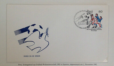 Perù Lima Busta Fifa XII Football World Cup Spagna '82 FDC 2.11.1982 Soccer
