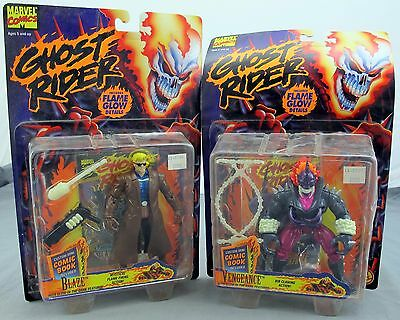 Ghost Rider Set Of 2 Action Figures Vengeance & Blaze 1995 Toy Biz NEW