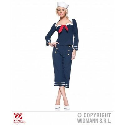 Ladies Womens Pin Up Sailor Girl Costume Outfit for 40s Fancy Dress
