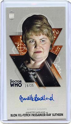 2016 Topps Doctor Who Widevision BRONZE Annette Badland As Blon Auto!! 19/25!!