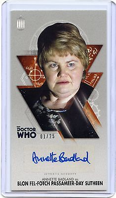2016 Topps Doctor Who Widevision BRONZE Annette Badland As Blon Auto!! 01/25!!!