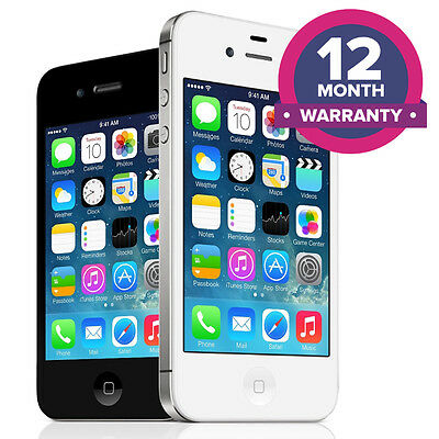 Apple iPhone 4 Unlocked Smartphone - 8GB 16GB 32GB - All Colours