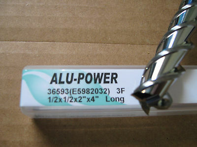 "1/2""x2"" LOCx 4"" OAL,ALU-POWER 3 Flute Carbide End Mill, YG-1 brand ""NEW"""