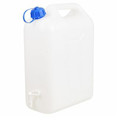 20L Plastic Water Jerry Can Liquid Carrier Drum Pouring Spout Tap Drinking Store