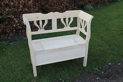 Rustic style pew monks bench settle with storage