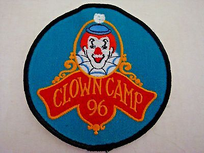 "1996 Clown Camp patch 3"" in diameter"