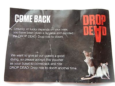 London Dungeons Ticket for DROP DEAD RIDE to Doom Near London Eye and Parliament