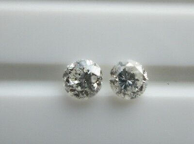 Pair 0.28Ct 100% Untreated Unenhanced Natural Diamond I Color‏
