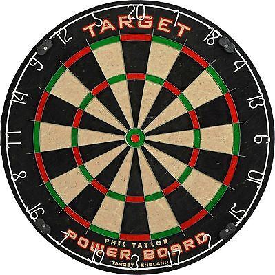 Phil Taylor Dart Board Fully Rotatable Target Dartboard Family Party Game Sports