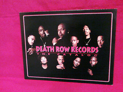 Death Row Records Catalog Poster Vintage Suge Knight Tupac 2Pac Tha Row Snoop
