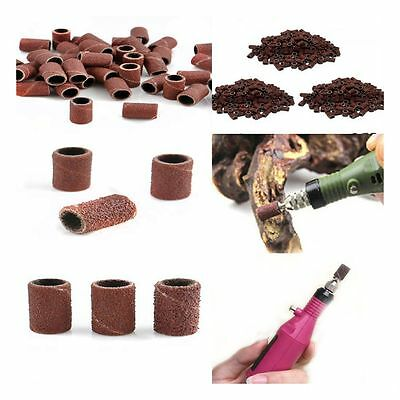 100PCS  Tool Machine Pedicure Grit Sanding Band Bits Drill Nail Art