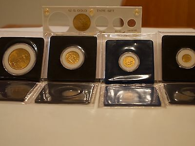 5pc US Gold Coin Type Set: $20+$10+$5+$2.5+$1with holder.