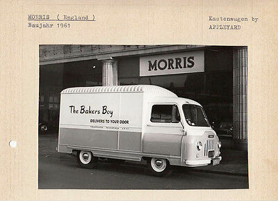 Morris Circa 1961 Van, By Appleyard Period Photograph Pasted To Card.