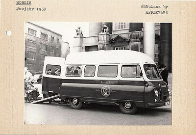 Morris Circa 1960 Ambulance By Appleyard Period Photograph Pasted To Card.