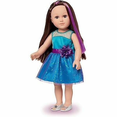 """My Life As 18"""" Party Planner Doll Brunette Baby Doll"""