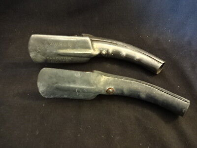 Old Vtg LOT of 2 Oil Can Cutter Sprout Lawson #735 Metal
