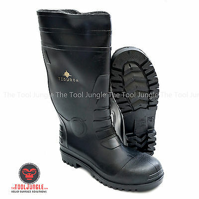 Mens PVC Rubber Steel Toe Boots Water proof and chemical resistant
