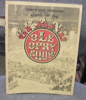 1980 STARS OF THE GRAND OLD OPRY SHOW Signed Program-RED SOVINE,T.G.Sheppard++++