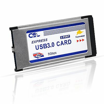 CSL - USB 3.0 Super Speed PCMCIA Express Card (34mm / 2 Port / compatible wit...