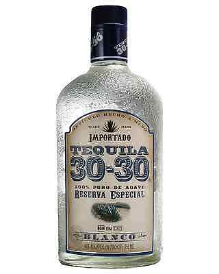 30-30 Tequila Blanco 100% Agave 750ml case of 12