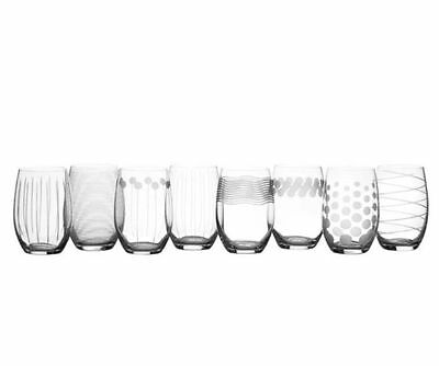 NEW CHEERS by Mikasa Cheers Set of 8 Stemless Wine Glasses