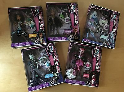 Monster High Ghouls Rule Lot ~ 5 Dolls New In Box ~ Frankie, Cleo, Draculaura
