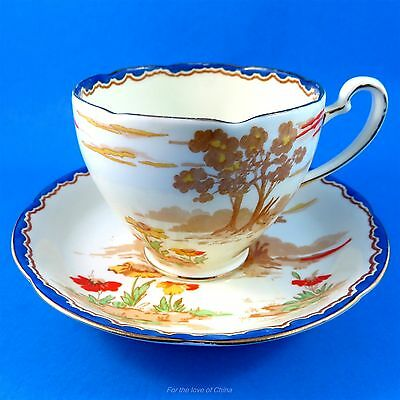 Gorgeous Scenic & Floral Royal Grafton Tea Cup and Saucer Set