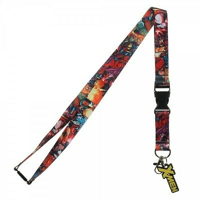Marvel Comics X-Men Collage Logo Rubber Charm Lanyard Badge Id Holder Keychain
