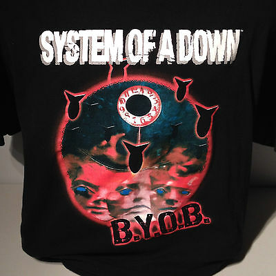 System of a Down BYOB Bring Your Own Bombs 2005 Mezmerize Tour T Shirt XL