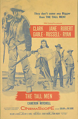 The Tall Men (1955) Clark Gable, Jane Russell, Robert Ryan pressbook