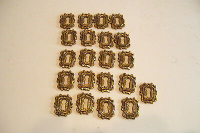 21 Cast Brass Key Hole Escutcheons Reproduction New Old Stock Nails Included