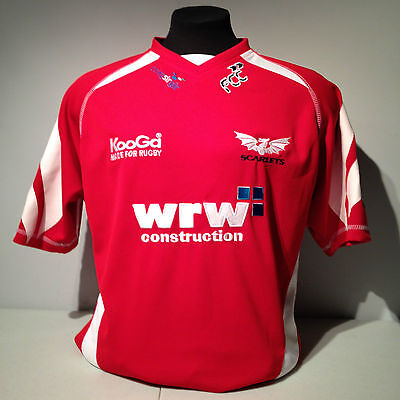 Wales Welsh Rugby Union Scarlets Euro Cup Red Large Home Jersey KooGa Football