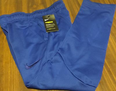 NWT Nike Boys Youth XL Royal Blue Embroider Swoosh Therma Dri-Fit Sweat Pants XL