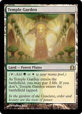 MTG Magic The Gathering Return to Ravnica Temple Garden  X 1 NM