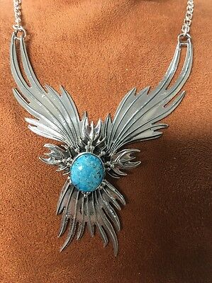 Navajo Native American Turquoise Phoenix Necklace Set Charles J. Stunning #6 Wow