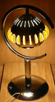 Vintage Mid Century Space Age Chrome Table Lamp Lucite & Metal Shade