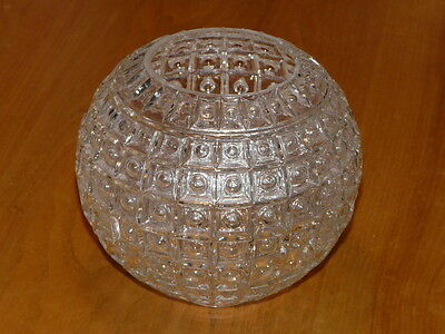Vintage Church Clear Textured Glass Light Lamp Shade