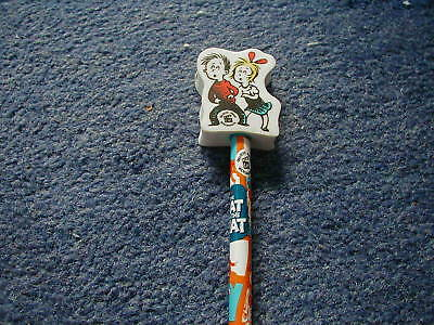 Dr Seuss Sally & Conrad Cat In The Hat Pencil & Rubber